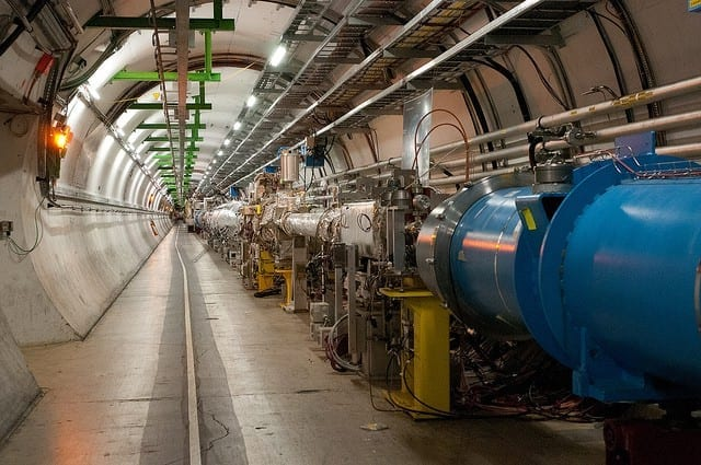 Fiber networks at Large Hadron Colider