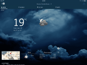 WeatherBug iPhone and iPad app