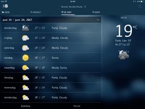 WeatherBug iPhone and iPad app