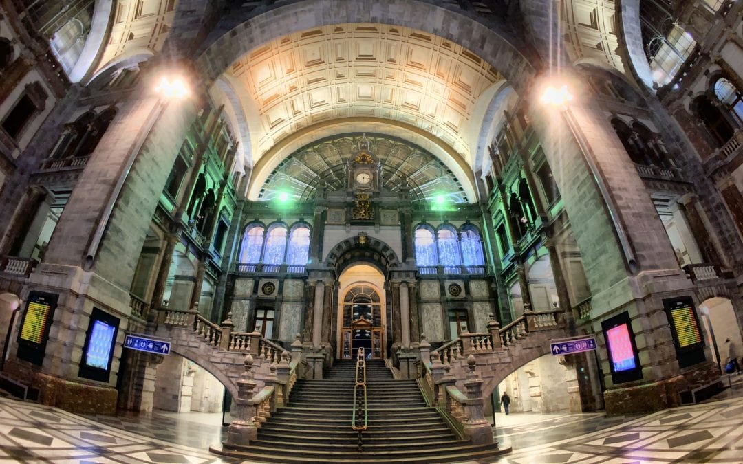 Antwerp Central Railway Station, shot on iPhone X using the New 14mm Moment Fisheye on Procamera HDR app, no post processing